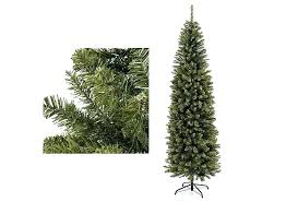Pencil Christmas Tree Slim Skinny Pre Lit Cashmere