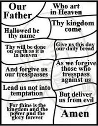 Lords Prayer For Children Free Coloring Pages National Day Of Vbs And Teaching The
