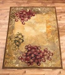 Grape Theme Area Rug Rustic Tuscan