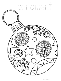 Christmas Tree Coloring Page Print Out ornaments free printable christmas coloring pages for kids paper