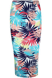 womens summer bodycon ladies floral roses leaves stretchy pencil