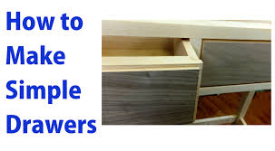Building A Simple Wood Desk by How To Make Simple Wooden Drawers Woodworkweb Youtube