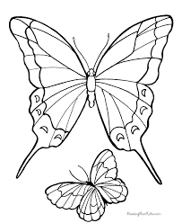 Coloring Pages Printable Butterfly Drawings To Color And Print Raising Kid Cool Beautiful Design Butterflies