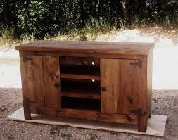 Large Rustic Pine Entertainment Center