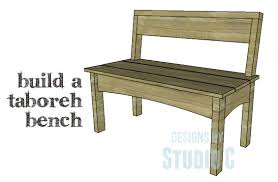 a simple to build bench with lots of style u2013 designs by studio c