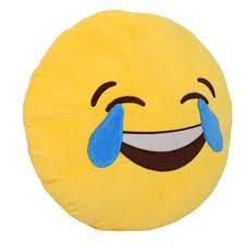 Amazon 1 X Round Oi Emoji Smiley Emoticon Cushion Pillow