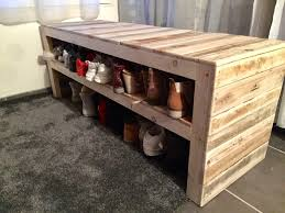 FurnitureThis Pallet Bench Has Two Shoe Storage Shelves Also With Furniture 22 Best Picture