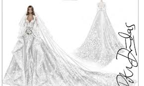 Roberto Cavalli Shares Beautiful Sketch Of Ciaras Wedding Dress