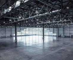 Interior An Empty Warehouse Stock Image of hall