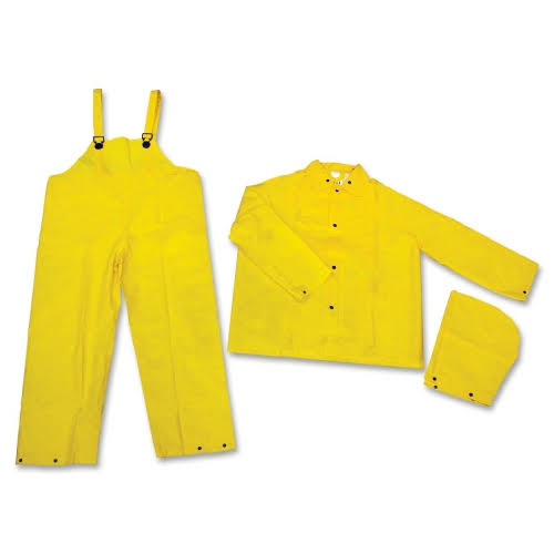 MCR Safety Rain Suit - Yellow, 3 Pieces