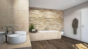 design rustio mit steinmauer badewanne badezimmer