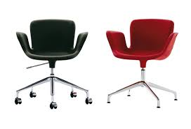 Acrylic Desk Chair On Casters by Contemporary Chair With Armrests Upholstered On Casters