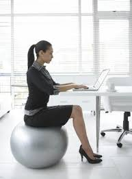 you switch your desk chair for an exercise ball