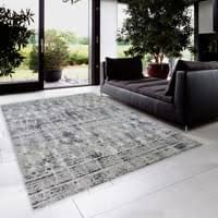 kurzflor teppich wohnzimmer grau modern läufer flur küche hellgrau größe 160x230 cm