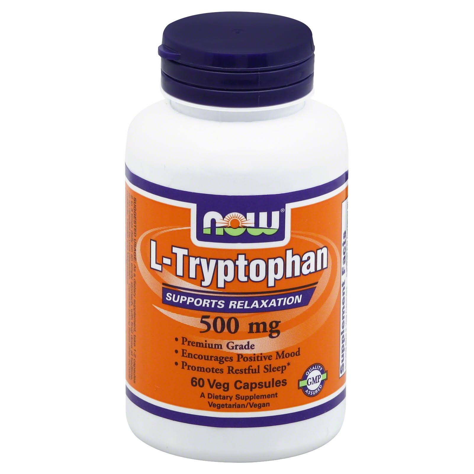 Now Foods L-Tryptophan Supplement - 60 Veg Capsules