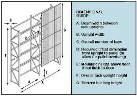 Dimensional Guide For Pallet Rack Security Enclosure