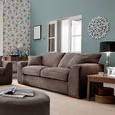 Brown Couch Decor Ideas by Blue And Chocolate Brown Living Room Interior Design
