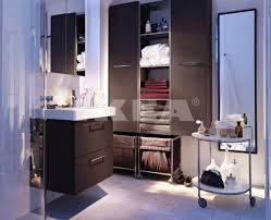 Ikea Bathroom Cabinets Wall by Bathroom Sleek Simple Ikea Bathroom Vanities With Black Base And