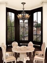 Dining Room Table Chairs Window Bay Overlooking