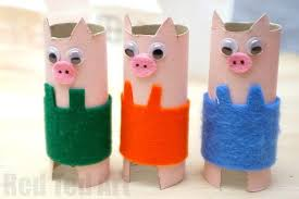 Toilet Paper Roll Pig Craft Easy For Preschool We Love Crafts