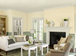 Pleasant Living Room Nuance With Lovely Paint Color Idea Yellow And Teal Wall Colors Classic White Fireplace Mantel For Display Shelf Also