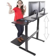 Ergotron Sit Stand Desk Manual by Tranzendesk Dual Level 47 Inch Full Sized Standing Desk Black
