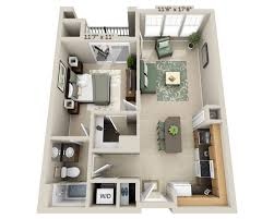 100 Small One Bedroom Apartments Plans Of AreaPLcom