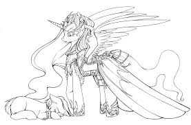 Princess Luna And Nightmare Moon Coloring Pages