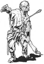 War Warrior Zombie Coloring Page Kids Play Color