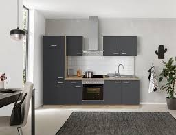 optifit küchenzeile iver 270 cm breit inkl elektrogeräte der marke hanseatic wahlweise mit oder ohne vollintegrierbaren geschirrspüler