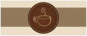 glasbild kaffee ü logo symbol für kaffee