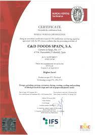 ce bureau veritas accreditation c d foods