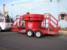 RED BANK: World's Largest Salvation Army Kettle Rolls Into Town.