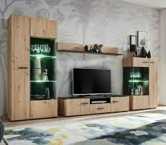 wohnwand doly wohnzimmer modern tv schrank vitrine hochglanz led 2 farben