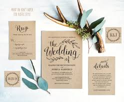 Vintage Wedding Invitation Suite Printable
