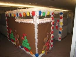 Office Cubicle Christmas Decorating Ideas by Gingerbread Christmas Cubicle Christmas Office Decor Pinterest