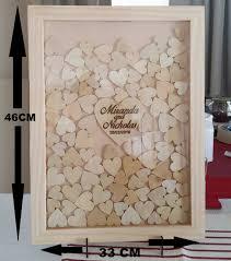 Big Wedding Guest Book Drop Box Frame Rustic Look