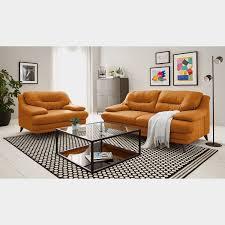 fredriks sofa lutz ii 2 sitzer goldbraun echtleder 185x87x100