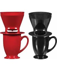Melitta 64012 1 Cup Pour Over Coffee Brown Brewer With Mug Coffeemaker