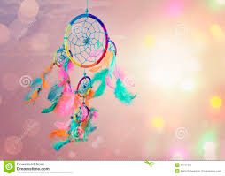 Dream Catcher And Abstract Bokeh Background Royalty Free Stock Photo