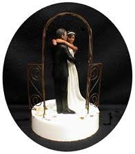African American Hispanic Rustic Garden Gate Wedding Cake TOPPER Country Western