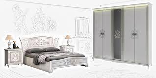 schlafzimmer set vittore in weiss hochglanz 4 teilig interdesign24 de