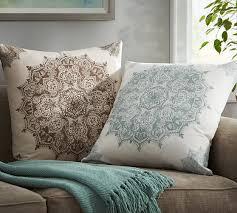 erica medallion print pillow cover pottery barn