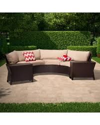 Harrison 6 Piece Wicker Sectional Patio Seating Set