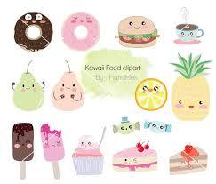 Kawaii Food Set Clipart Cute PNG File 300 Dpi