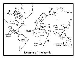 World Map Coloring Pages Pictures Free