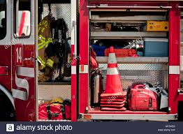 100 Inside A Fire Truck Fighting Equipment On Display Inside A Fire Truck Stock Photo
