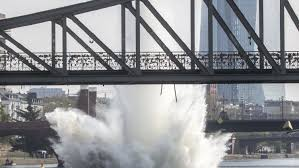 100 Water Bridge Germany A 500pound Bomb Is Detonated In More Than Seven