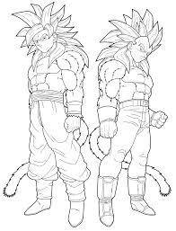 Imagens Do Goku Vs Vegeta Para Colorir