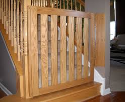 White Oak Banister Baby Gate | Baby Safety Gates, Child Safety ... Infant Safety Gates For Stairs With Rod Iron Railings Child Safe Plexiglass Banister Shield Baby Homes Kidproofing The Banister From Incomplete Guide To Living Gate For With Diy Best Products Proofing Montgomery Gallery In Houston Tx Precious And Wall Proof Ideas Collection Of Solutions Cheap Way A Stairway Plexi Glass Long Island Ny Youtube Safety Stair Railings Fabric Weaved Through Spindles Children Och Balustrades Weland Ab